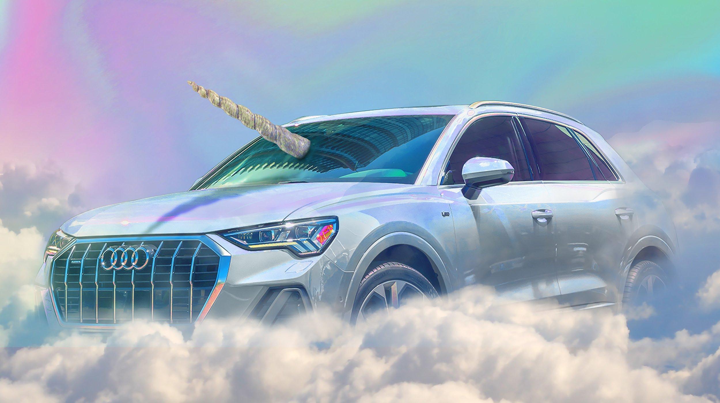 Audi Q3 unicorn 758x425 - Audi Q3 celebrates Halloween by dressing as a unicorn