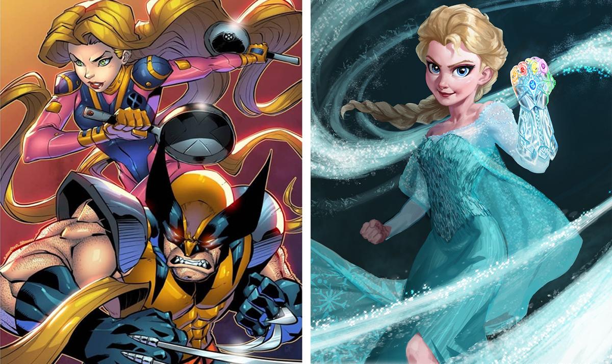 Disney Princess Marvel mashups featured image - Disney Princess Marvel mashups