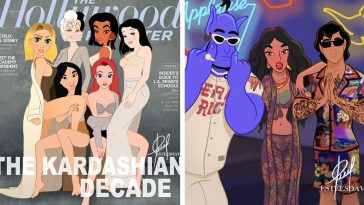 Disney Princesses reimagined as celebs and influencers 21