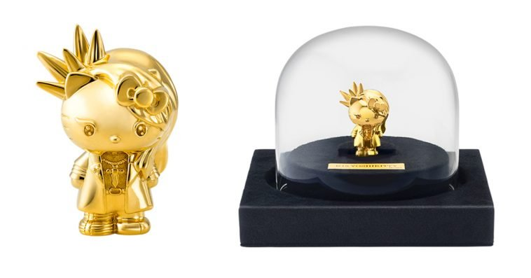 This Yoshikitty solid gold figurine costs a whopping $10,000 11
