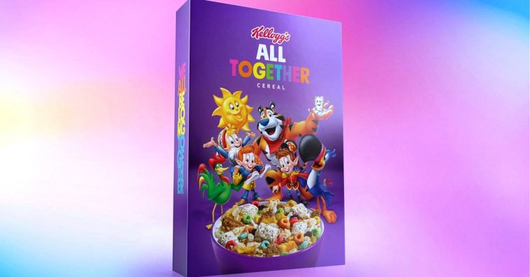Kellogg's All Together Cereal brings together 6 types of cereal in 1 box 10