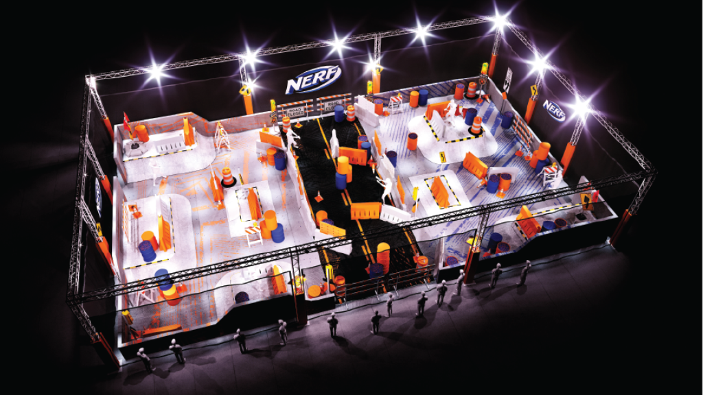 NERF Challenge live attraction is coming to Los Angeles this December 14