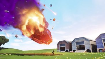 Fortnite's meteor crashed and exploded into a black hole that sucked the entire game in 12