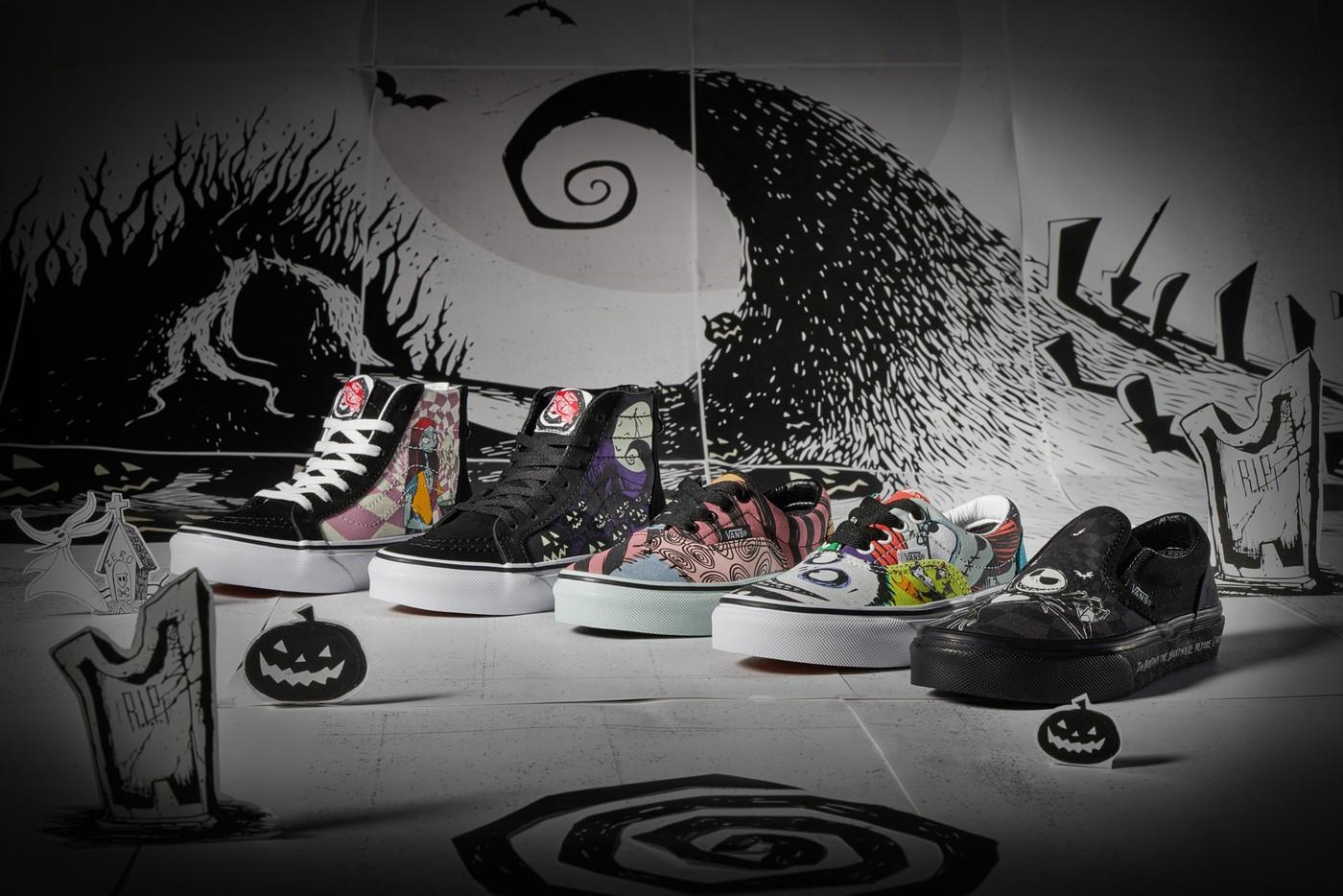 https hypebeast.com wp content blogs.dir 11 files 2019 10 vans disney collection sneakers l etrange noel de monsieur jack photos sortie 2 728x409 - Disney and Vans' The Nightmare Before Christmas shoe collection is spooky cool
