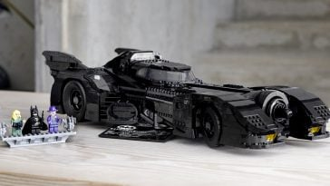 LEGO 1989 Batmobile 364x205 - Batman's 1989 Batmobile gets a stunning LEGO replica