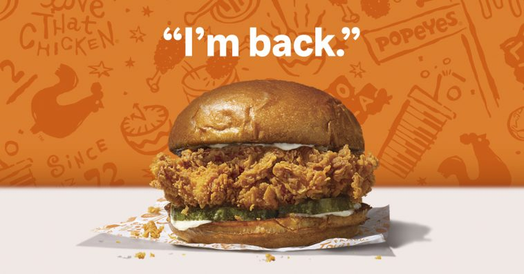 Popeyes' chicken sandwich is back and so are the crazy long lines 13