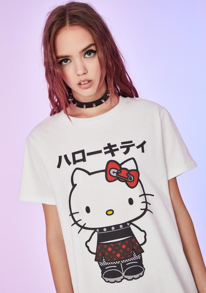 Hello Kitty and Dolls Kill team up for a cute and feisty punk-themed clothing collection 13