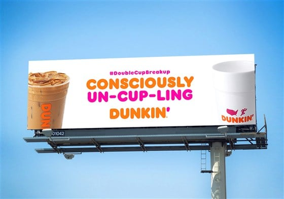 Dunkin' is replacing its foam cups with a more sustainable packaging 14