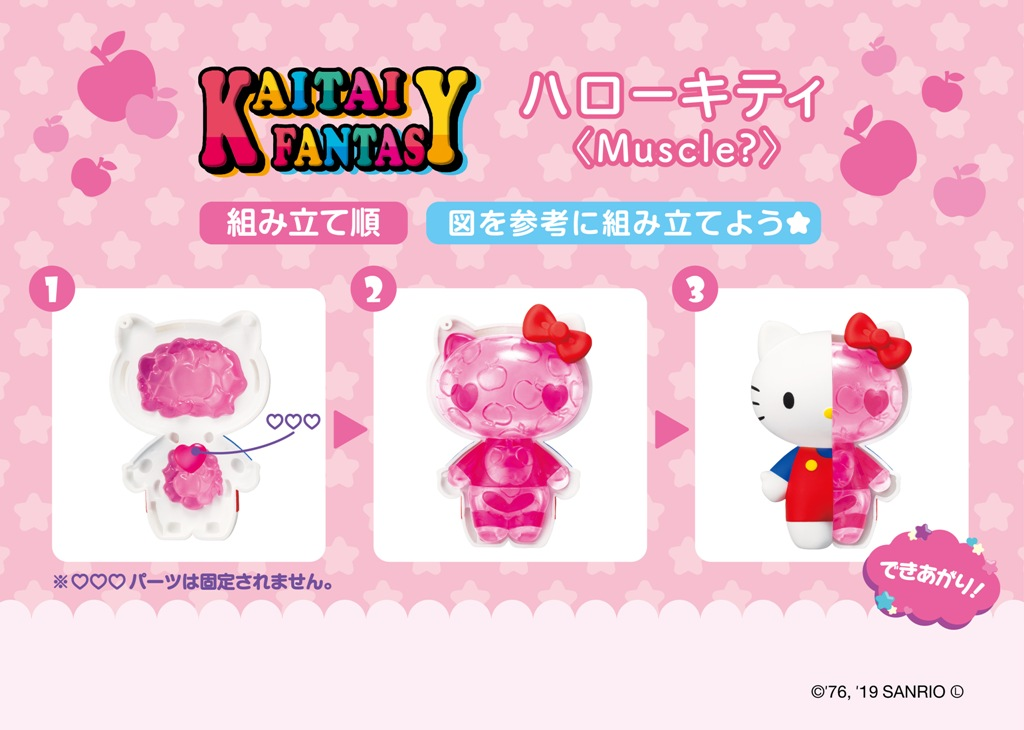 These weird Hello Kitty toy figures reveal the character's internal anatomy 14