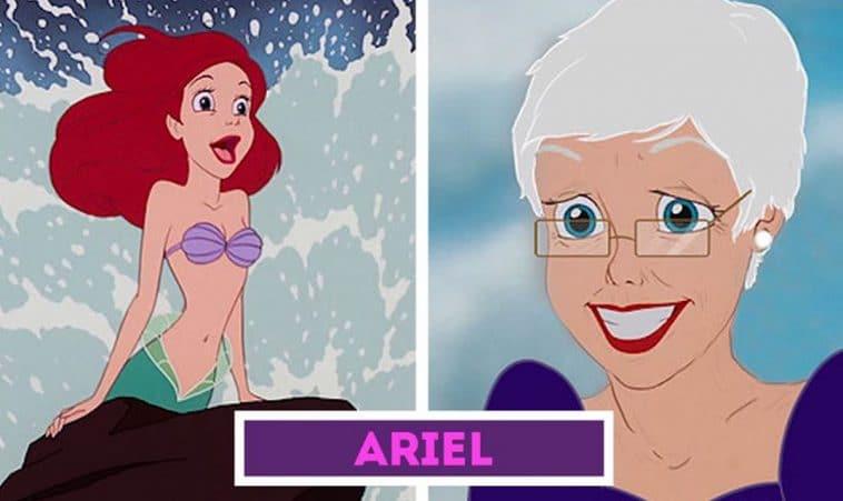 If Disney Princesses aged 14