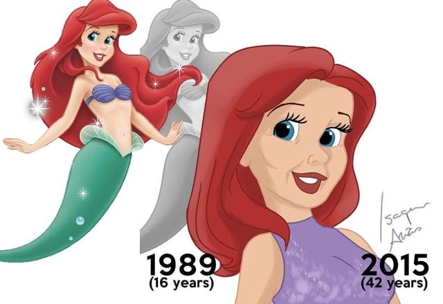 If Disney Princesses aged 16