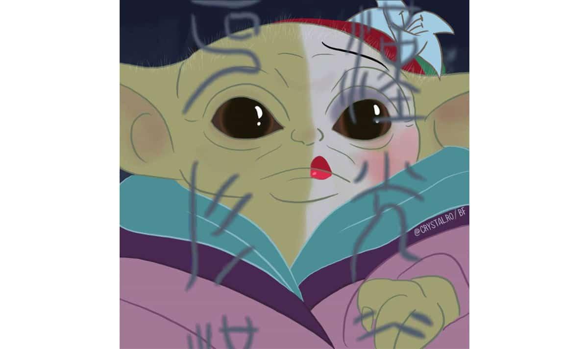 Baby Yoda as Disney Princesses 15