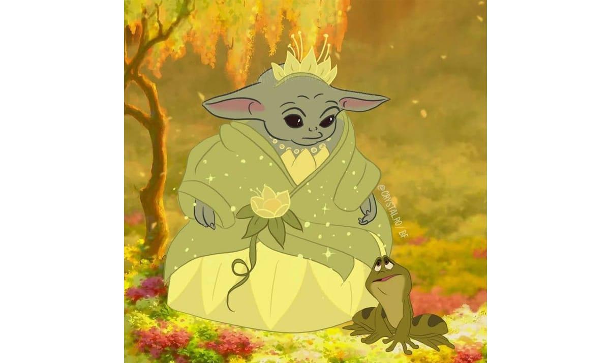 Baby Yoda as Disney Princesses 16