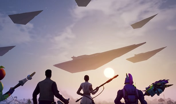 Fortnite now has lightsabers and a TIE fighter 13