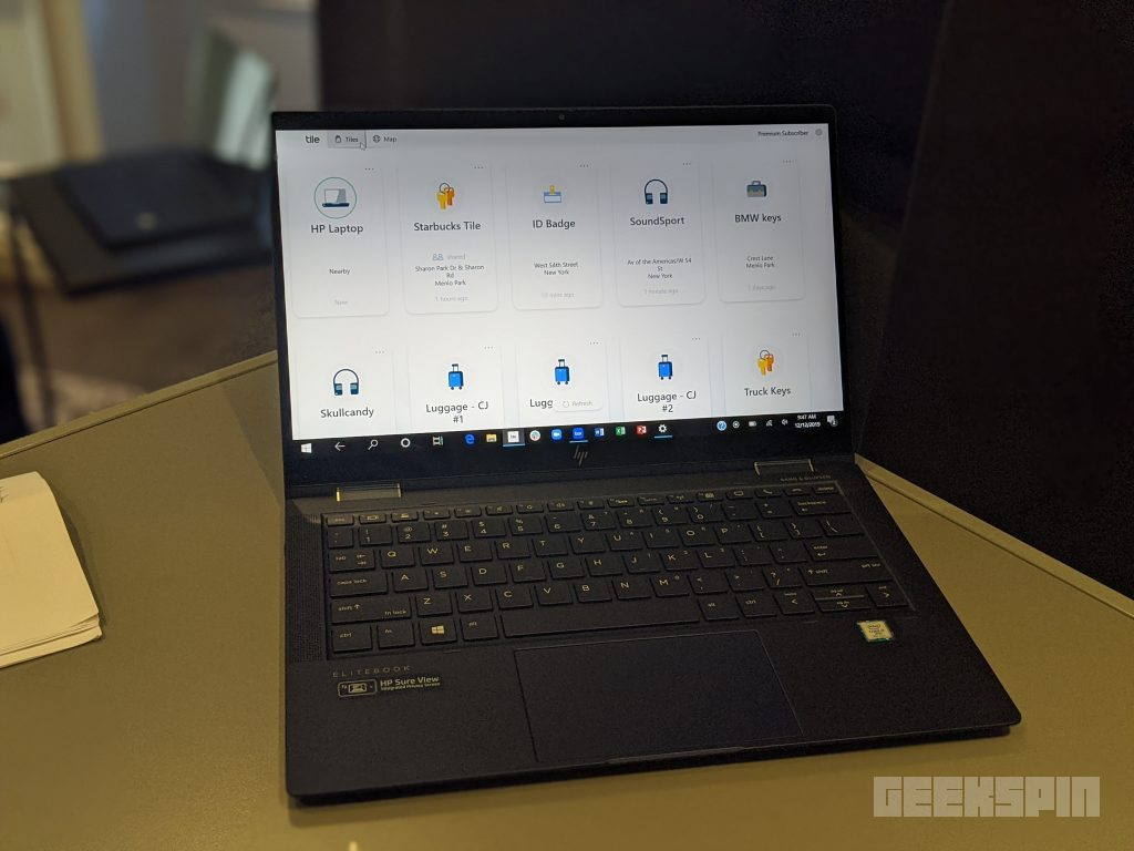 The HP Elite Dragonfly G2 is the first laptop with a built-in Tile tracker 15