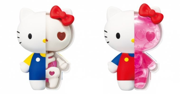 These weird Hello Kitty toy figures reveal the character's internal anatomy 12