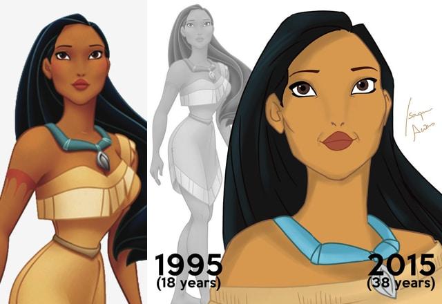 If Disney Princesses aged 15