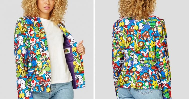 This flashy Super Mario blazer will power up your office outfit game 14