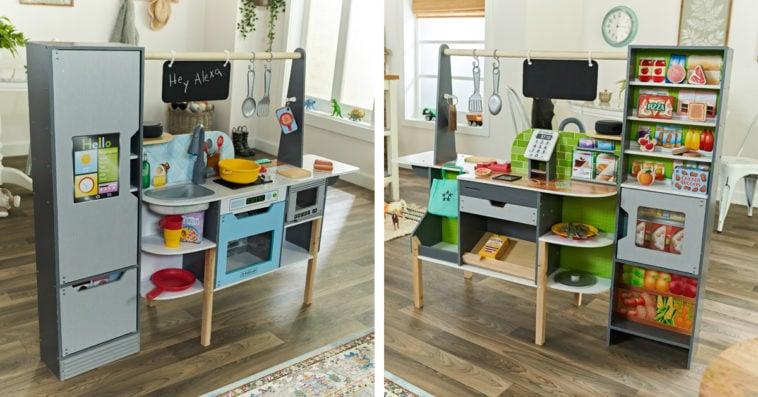 This interactive children's kitchen set comes with Alexa 13