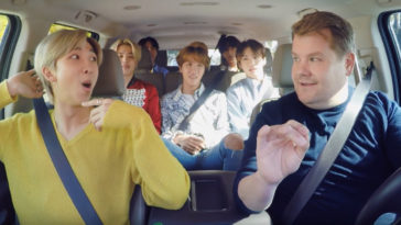 BTS' Carpool Karaoke with James Corden ends with a super fun dance lesson 48