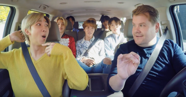 BTS' Carpool Karaoke with James Corden ends with a super fun dance lesson 14