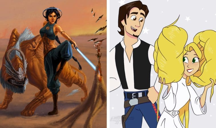 Disney princesses and heroes reimagined as Star Wars characters 12