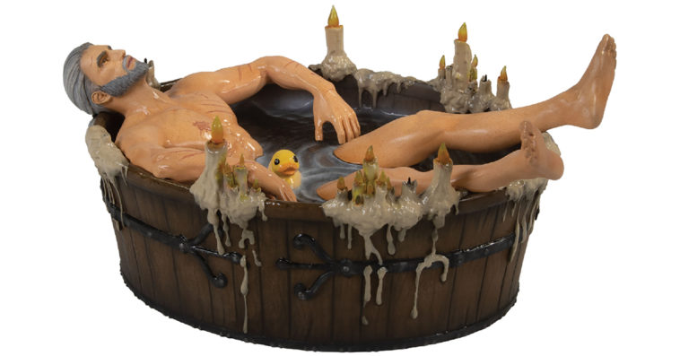 This sexy Geralt in the Bath statuette is the perfect trophy for finishing The Witcher 3 11