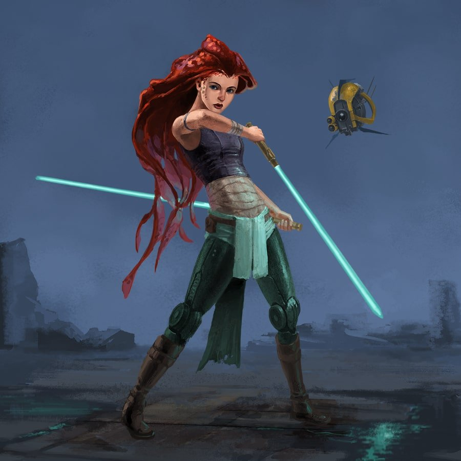 Disney princesses and heroes reimagined as Star Wars characters 13