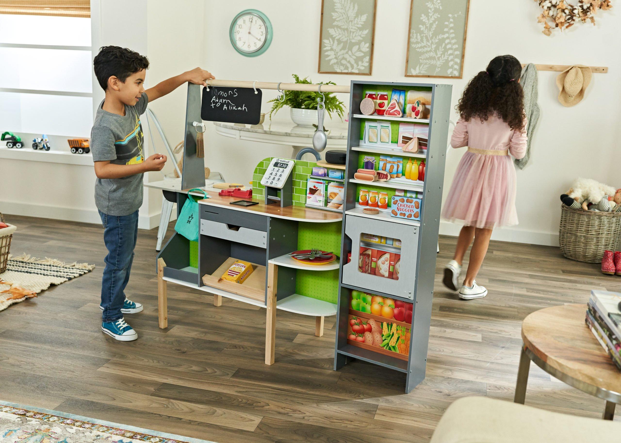 This interactive children's kitchen set comes with Alexa 14