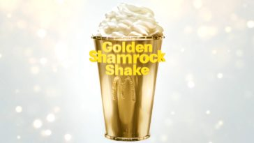 McDonald's is auctioning off a $90,000 Golden Shamrock Shake cup 12