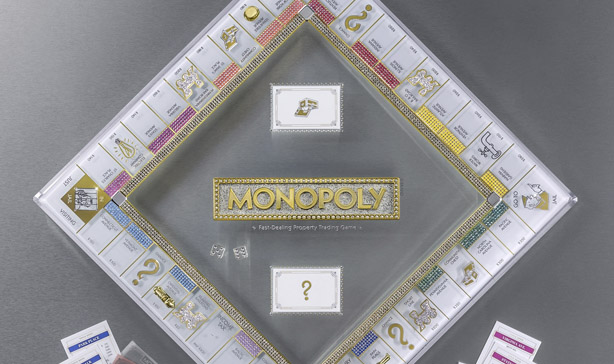 Monopoly's 85th anniversary edition is covered in Swarovski crystals 12