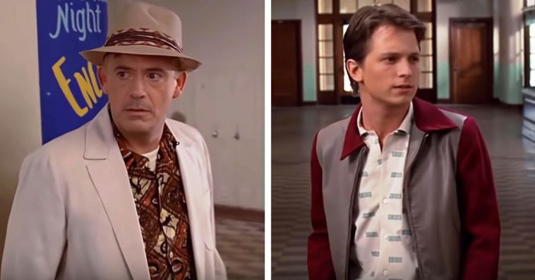 Robert Downey Jr. and Tom Holland reunite onscreen in a Back to the Future deepfake 11