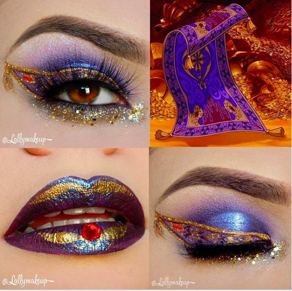 Incredible Disney-inspired eye and lip makeup 14