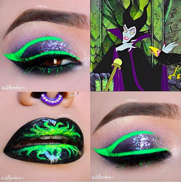 Incredible Disney-inspired eye and lip makeup 17