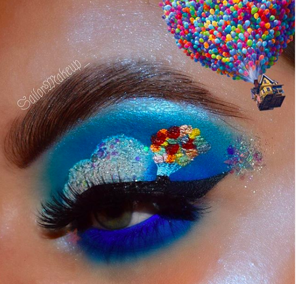 Incredible Disney-inspired eye and lip makeup 18