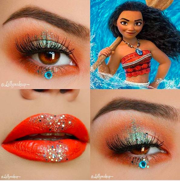 Incredible Disney-inspired eye and lip makeup 23