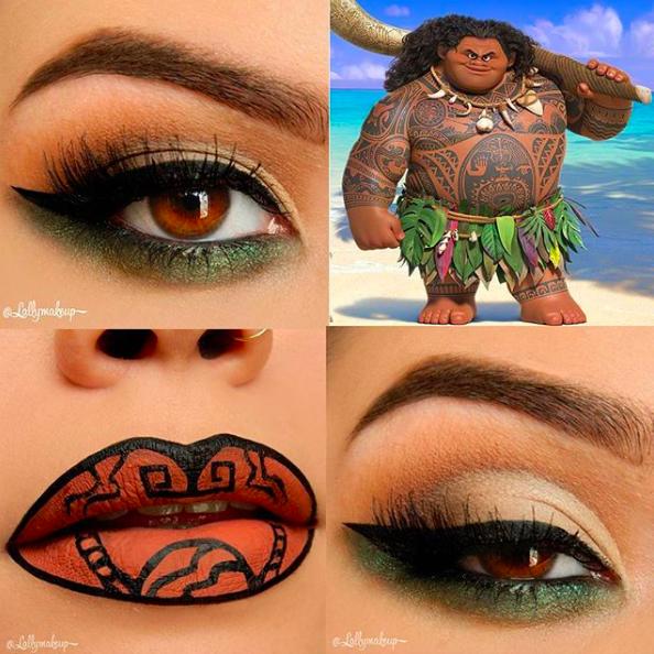 Incredible Disney-inspired eye and lip makeup 24