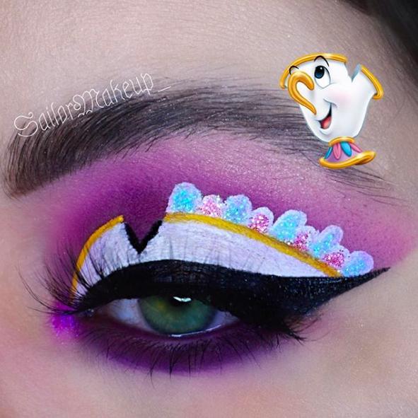 Incredible Disney-inspired eye and lip makeup 28