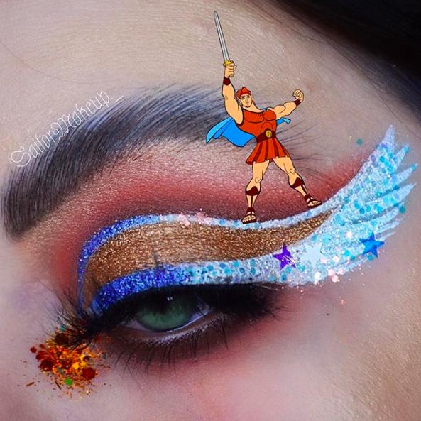 Incredible Disney-inspired eye and lip makeup 30