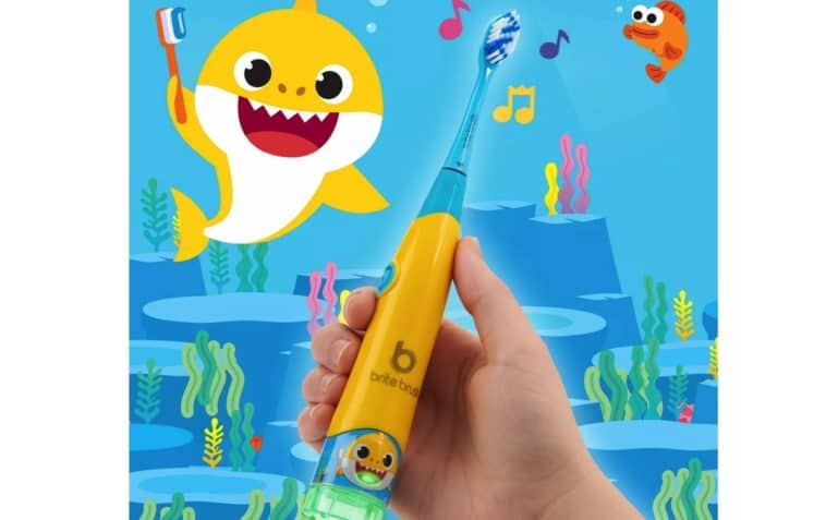 BriteBrush is a smart toothbrush for kids that plays the Baby Shark song 12