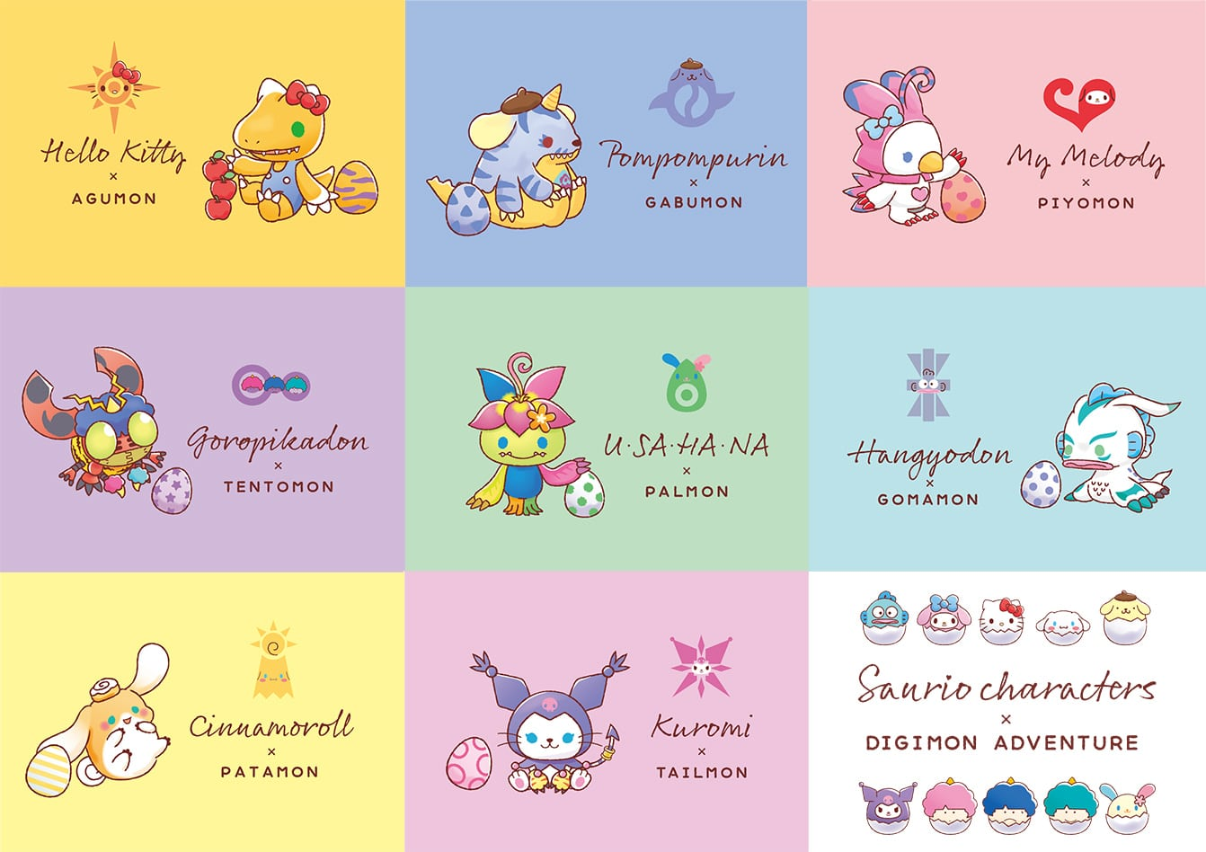 The original Digimon characters get a cute Sanrio makeover 15
