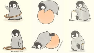 These comics about a baby penguin trying to get its life together are totally relatable 16