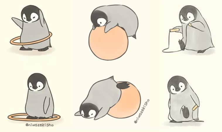 These comics about a baby penguin trying to get its life together are totally relatable 11