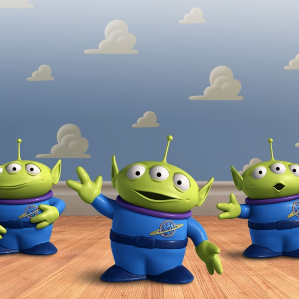 When Buzz Lightyear meets the Little Green Men in Toy Story 2, who do they worship as their master? 21