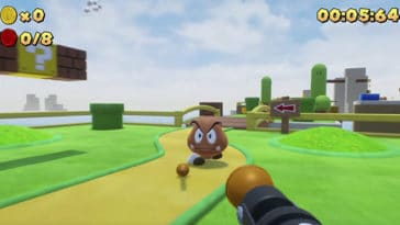 Super Mario Bros is now a first-person shooter game 15
