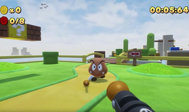 Super Mario Bros is now a first-person shooter game 13