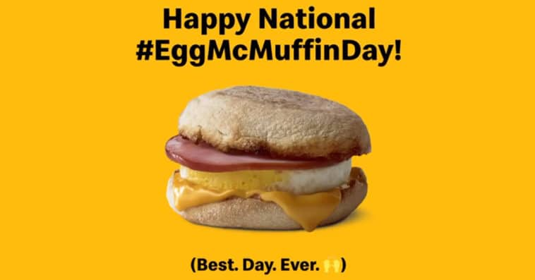 McDonald's is giving away free Egg McMuffins to counter Wendy's breakfast menu launch 14