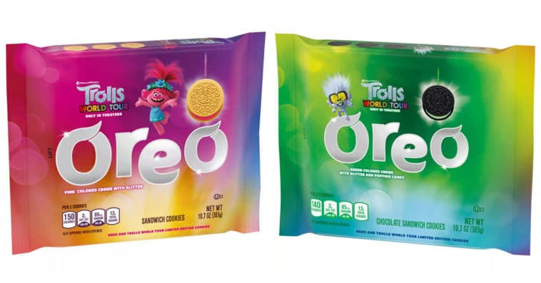 These Trolls World Tour Oreo cookies are stuffed with glittery crème fillings 14