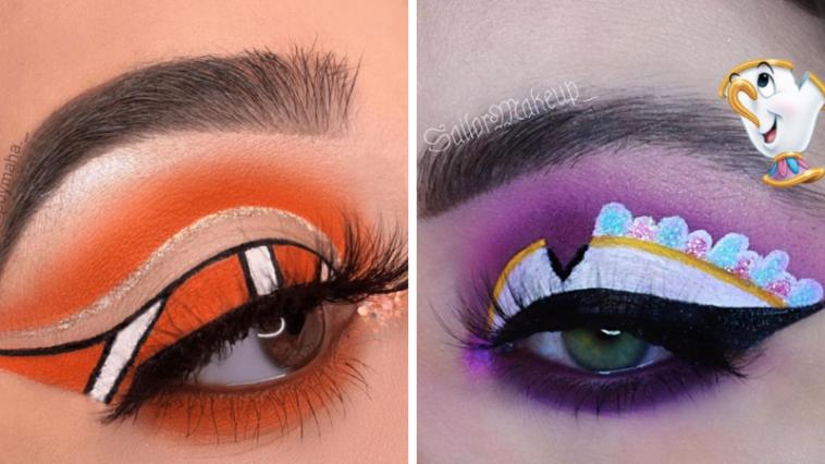 Incredible Disney-inspired eye and lip makeup 13