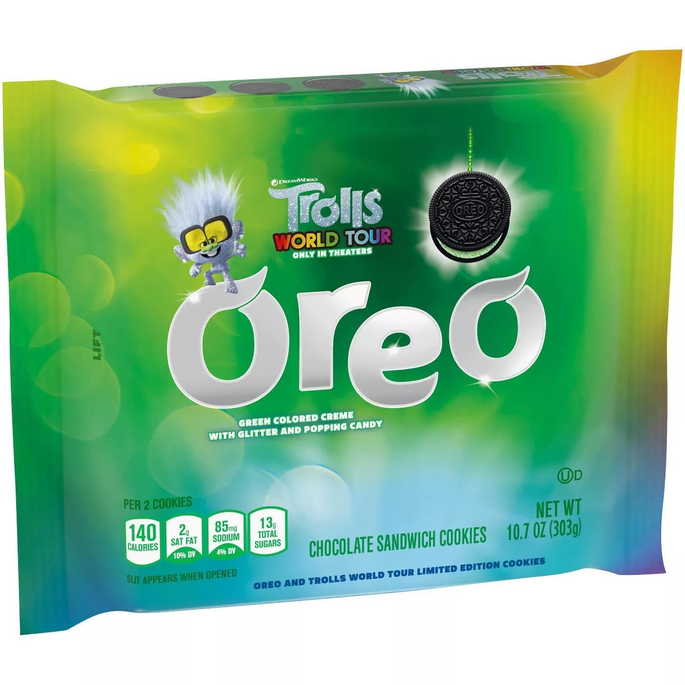 These Trolls World Tour Oreo cookies are stuffed with glittery crème fillings 19